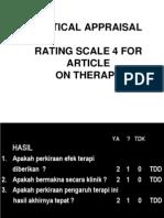 Critical Appraisal Terapi