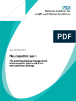 Neuropathic Pain - Pharmacological Management NICE GUIDELINE CG 96 MARCH 2010
