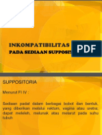 PADA SEDIAAN SUPPOSITORIA