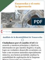 CxC El Oro de Yanacoha y El Costo de La Ignorancia