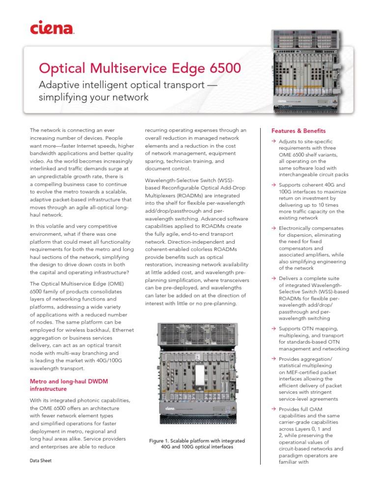Buy used & refurbished ciena ome 6500 equipment | worldwide supply.