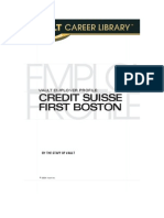 Vault Employer Profile - Credit Suisse First Boston (2004)