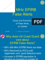 EPIRB False Alert Rate 2009 BMW