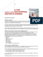 Working in the Maritime and Shipping Sector in Norway