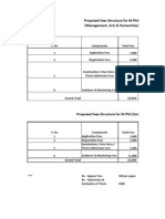 M.phil Fee Structure (WITH COURSE )