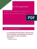 """Présentation """"Community Management 101"""" - www2012 - Lyon - avril 2012"""