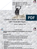 Lineas de Investigación de La UBV-Monagas