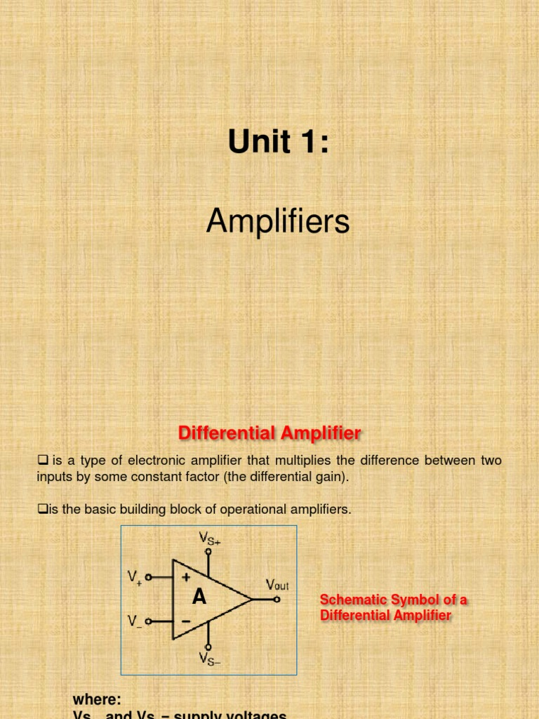 Unit 1 Amplifiers Amplifier Operational Applications Wikipedia