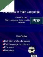 PLAIN Principles