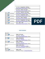 India Cricket Schedule 2012 Updated