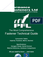 Performance Fasteners Ltd - Fastener Technical Guide