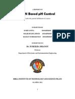 ANN Based pH Control Report