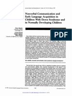 Nonverbal Comunication and Early Language Acquisition