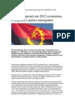 Angola superará em 2012 economias avançadas e países emergentes