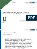 Musealer Einsatz von digitalen Geschichtenerzählern