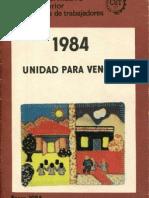 BOLETIN INFORMATIVO CEX - CUT. ENERO 1984
