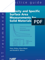 Porosity Specific Surface Area Practice Guide
