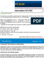 Anti Derivative of CSC