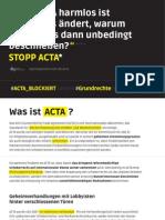 Acta - Flyer des Digitale Gesellschaft e.V.