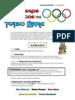"""""""Los Juegos Olímpicos de PASO LIBRE"""" Convi Abril´12"""