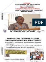 Ludo Mosojane, Botswana, Leadership - Summit 2012