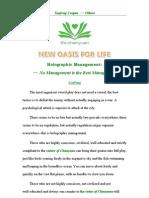 Holographic Management(2):No Management is the Best Management