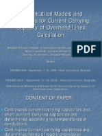 P-3.3 Mathematical Models and Standards for Current Carrying Capacity of Overhad Lines