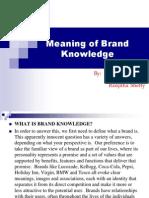 Brand Knowledge Presentation