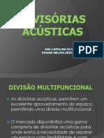 APRESENTAÇÃO DE DIVISÓRIAS ACÚSTICAS