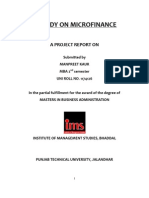 A Study on Micro Finance Manpreet Mba