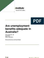 Are Unemployment Benefits Adequate in Australia