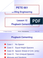 12. Plugback Cementing