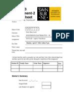 Matlab Assignment 2 Cover Sheet