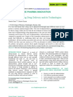 Fast Dissolving Drug Delivery and Its Technologies