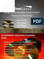 2012-04-16 What is Sustainable Government Resource Planning