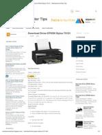 Download Driver EPSON Stylus TX121 ~ Maintenance Printer Tips