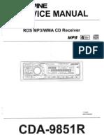 Alpine CDA-9851-R Service Manual