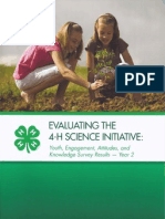 Evaluating the 4-H Science Initiative YEAK Year 2