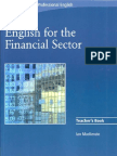 2008 Cambridge English for the Financial Sector Teacher's Book