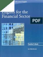 2008 Cambridge English for the Financial Sector Teacher's Book