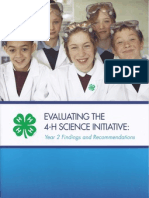 Evaluating the 4-H Science Initiative Year 2 Findings and Recom