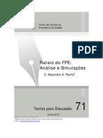 TEXTO DISCUSSÃO FPE 2011[1]