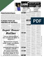 Petites annonces et offres d'emploi du Journal L'Oie Blanche du 25 avril 2012