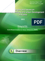 Strategies and Issues on the National Territory and Urban Development in Korea