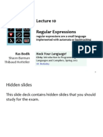 10 Regular Expressions as Small Language Sp12