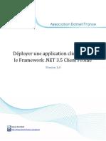Déployer une application cliente avec le Framework .NET 3.5 Client Profile