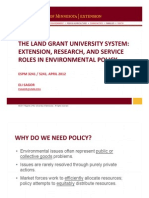 Extension, Research, and Service Roles in Environmental Policy