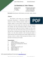 Theoretical Simulation of Solar Chimney - Hani Aziz Ameen