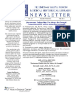 Friends of the P. I. Nixon Medical Historical Library Newsletter 2011