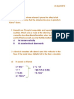 Physics Homework 2.8 Q's